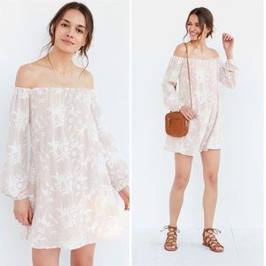 Urban Outfitters | Ecotè Off Shoulder Swing Dress